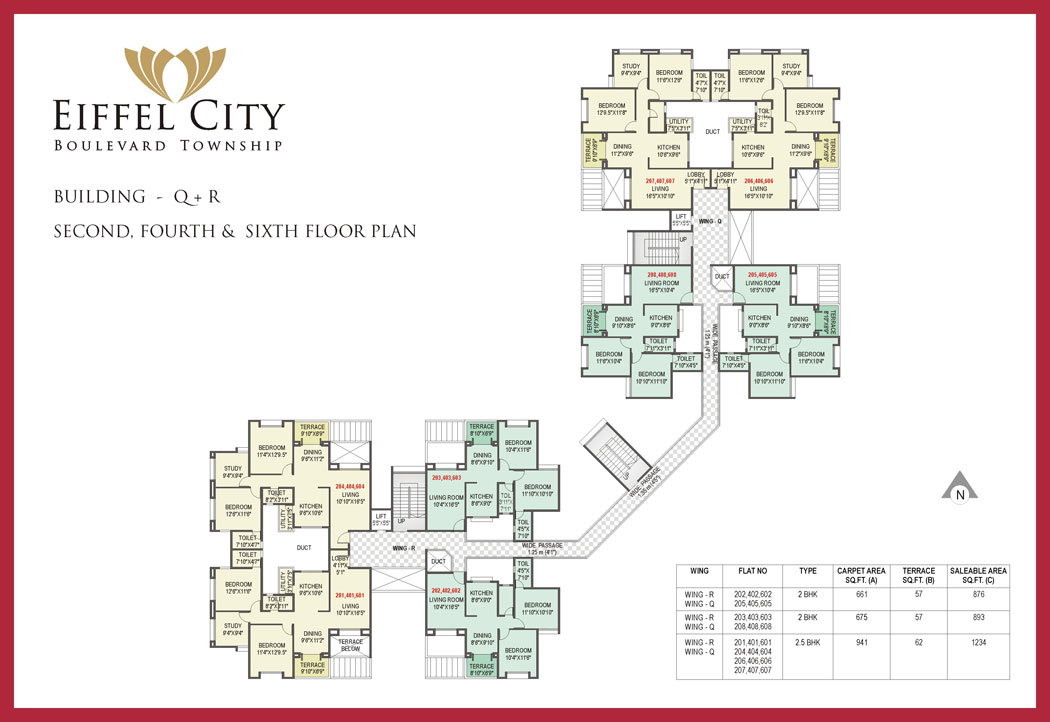 2 3 bhk luxurious flats for sale in chakan pune for Typical house layout