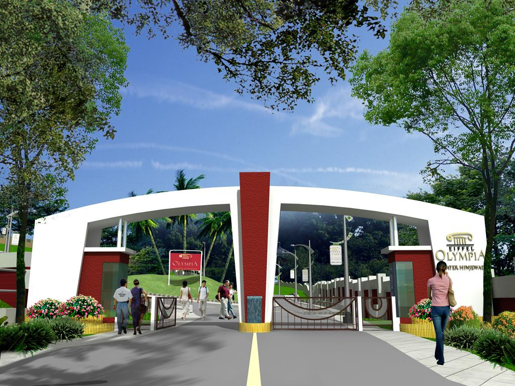 Entrance Gate Designs For Township Eiffel olympia : na plots for sale ...
